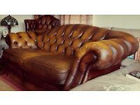 Reduced: Chesterfield Leather Sofa