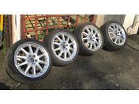 "18"" 5x108 pcd genuine ford 2 piece split rim alloys wheels focus Mondeo transit connect"