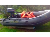 Inflatable Boat 2.9 metres and 5 air compartments. Comes with Yamaha Outboard and Honda Outboard