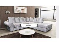 Brand new Royal corner sofa's: large velvet corner sofa's in left and right hand: UK DELIVERY