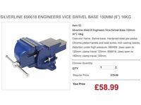 "SILVERLINE 656618 ENGINEERS VICE SWIVEL BASE 150MM (6"") 16KG"