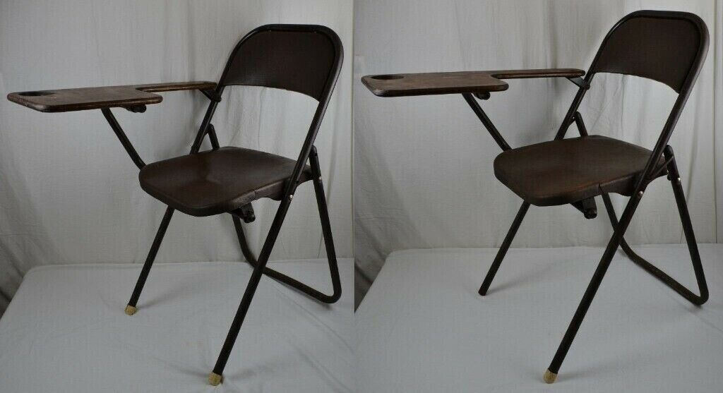 Astonishing 2 X School Lecture Vintage Fold A Bye Metal Folding Chairs Retro Industrial In Aberdeen Gumtree Cjindustries Chair Design For Home Cjindustriesco