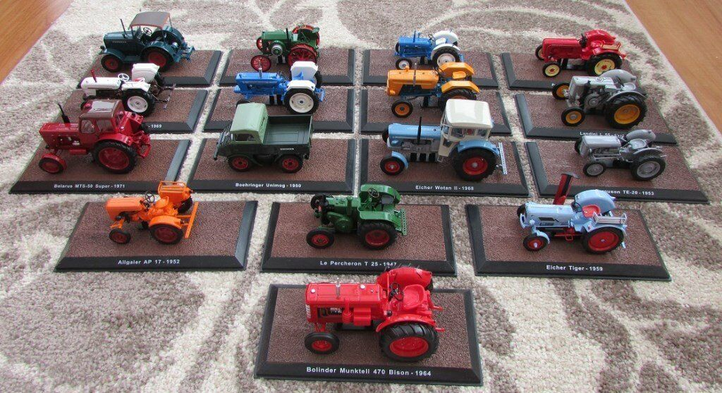 Die Cast Tractors - Job Lot from Atlas Editions Collections