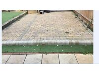 25m2 garden blocks, drive way blocks