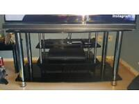 Black Glass Tv Stand (Argos Home Matrix)