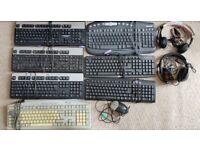 Bundle of 9 Keyboards / 3 Mouses / 2 Headphones