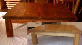 Extra Large Rustic Chunky Square Coffee Table