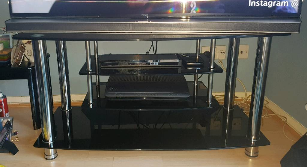buy online ce48c f984f Black Glass Tv Stand (Argos Home Matrix) | in St Mellons, Cardiff | Gumtree