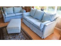 Pair 3 seater and 2 seater sofas