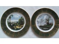 """Pair of WOOD & SON vintage 10"""" wall plates for sale."""