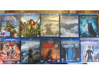 10 pre-owned 3D Blu-Ray movies