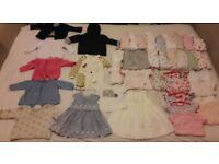 40 Piece Baby Girls Clothes Bundle size 0-3 months