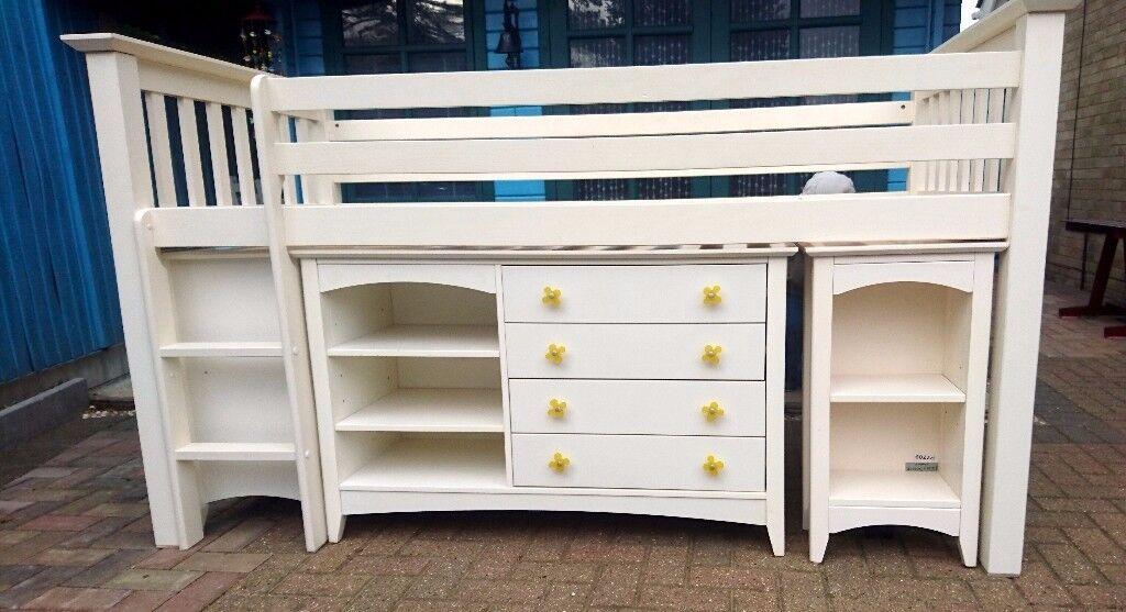 White Solid Pine Cabin Bed by Julian Bowan