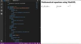 Coding mathematical equations in HTML5/MathML