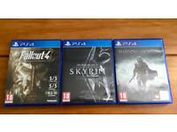 Three PlayStation 4 Games
