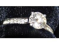ENGAGEMENT RING - PLATINUM AND DIAMOND 0.8ct