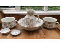 Vintage 6 piece ceramic wash set