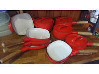 Orange 70's cookware
