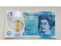 *RARE* NEW £5 NOTE FOR SALE! Serial No: AD45 - £100!!