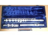 MELODY MAKER Foreign Silver Plated Nickel Beginner Flute & Hard Case