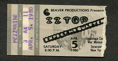 1980 ZZ Top Concert Ticket Stub Expect No Quarter Syracuse NY Cheap Sunglasses