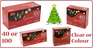 CHRISTMAS-XMAS-TREE-FAIRY-LIGHTS-40-100-CLEAR-COLOUR-INDOOR-STRING-DECORATION