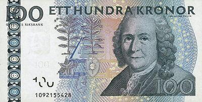 Schweden / Sweden 100 Kronen 2001-02 Pick 65a (1) Carl von Linné