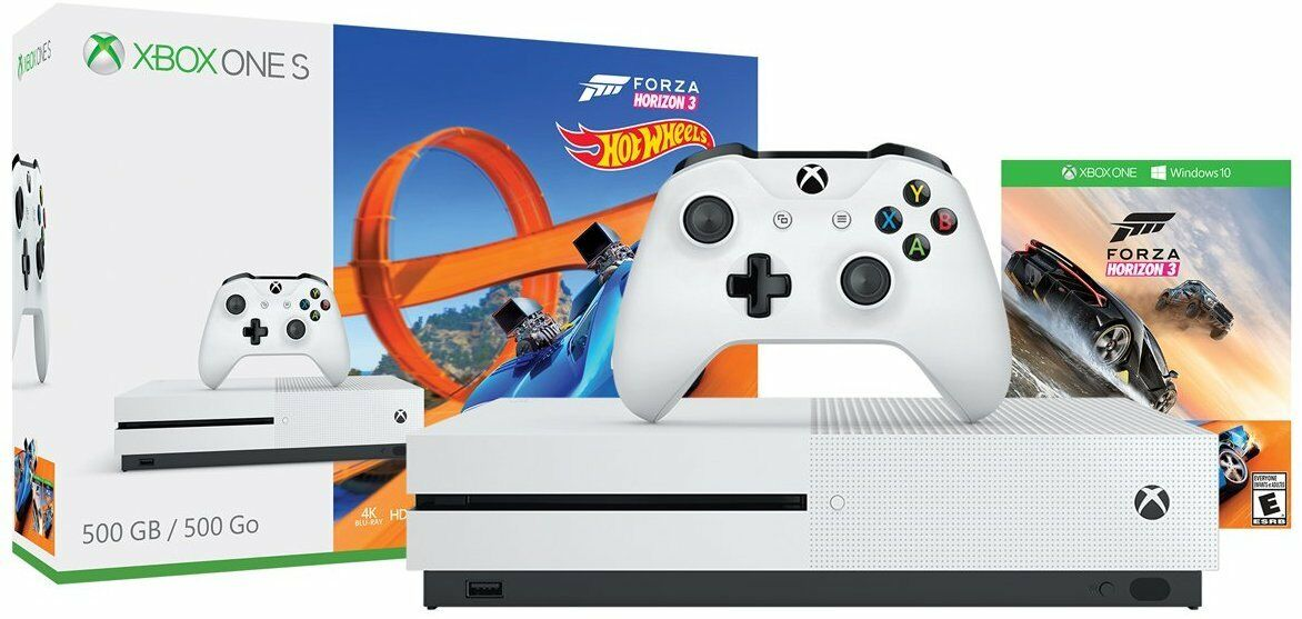 Купить Microsoft Xbox One S - Xbox One S 500GB Console | Forza Horizon 3 Hot Wheels Bundle