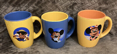 Esso Disney Mugs Cups x3 Vintage Disneyland Paris