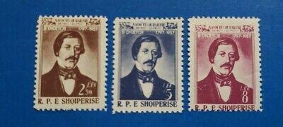 Albania Stamps, Scott 523-525 Complete Set MNH