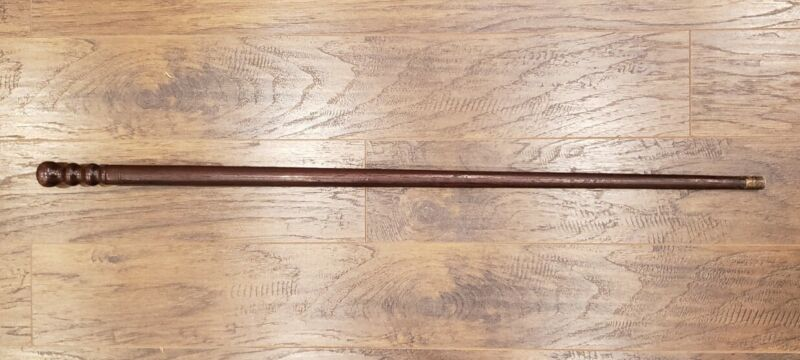 ANTIQUE GETTYSBURG PA BATTLE CULPS HILL 1863 CIVIL WAR CANE GAR 1880 HARDWOOD IL