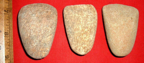 """(3) Choice Sahara Neolithic Stone Celts (2.25"""") Prehistoric African Artifacts"""