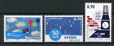 Luxembourg 2018 MNH SOS Kannerduerf APEMH LGL Anniversaries 3v Set Stamps