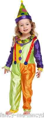 Mädchen Junge Kleinkind Clown Comic Relief Kostüm Kleid Outfit alter 3 jahre ()