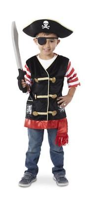 Pirate Costume Dress-Up Pretend Play from Melissa & Doug Fits 3-6 Years Old 4848 (Kid From Up Costume)