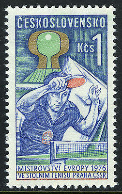Czechoslovakia 2060, MNH. European Table Tennis Championship, 1976