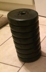 Weider Olympian and Pro Fitness weights.