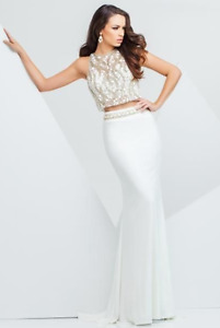 STUNNING WHITE 2 PC DRESS for SPECIAL OCCASION - WEDDING