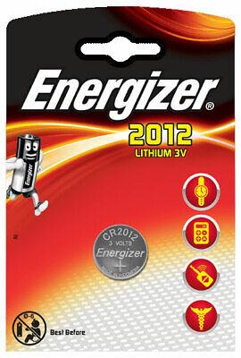 3 x Energizer CR 2012 3V Lithium Batterie Knopfzelle 58mAh im Blister Energizer Lithium-batterien
