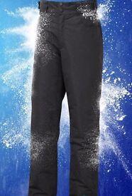 """Mens Goretex Black Ski Salopettes Waist Size 34-36"""" Leg 32"""""""
