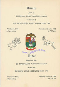 DINNER-MENU-CARD-SOUTH-AFRICA-LIONS-TOUR-1962