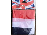 *Brand New *Union Jack Flag 5ft x 3ft