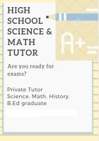Science & Math Private Tutor