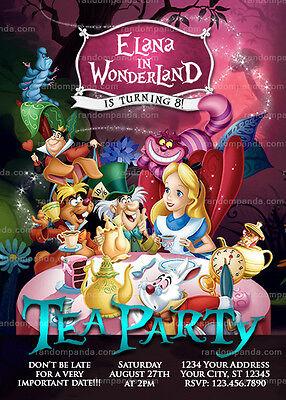 Alice in Wonderland Invitation, Tea Party, Alice Birthday Invite - Alice In Wonderland Party Invitations