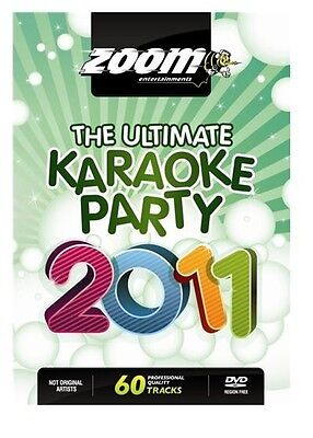 Zoom Karaoke The Ultimate Karaoke Party 2011 (DVD) 60 Songs New Sealed Box