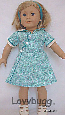 "Kit Birthday Dress for 18"" American Girl Thirties Style Doll Clothes"