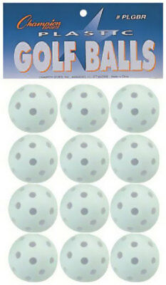 Dozen Wiffle Balls in Package Practice Champion Sports Baseball