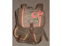 Brown Accessorize Rucksack with embroidery and sequin