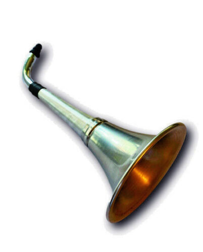 Ear Trumpet Horn For The Hard Of Hearing Crowd.Great party gag gift! All Metal.