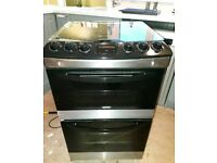 Zanussi Gas Hob and Double Oven Cooker - Stainless Steel/Black
